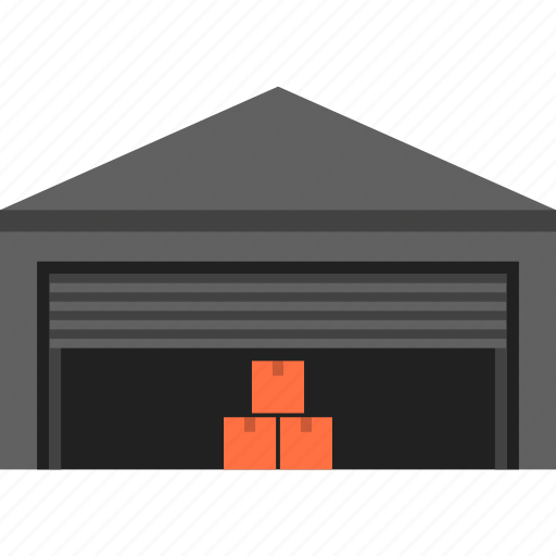 boxes, depot, godown, package, storage, transportation, warehouse icon