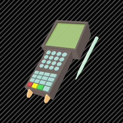 bank, card, cartoon, credit, money, terminal, transaction icon
