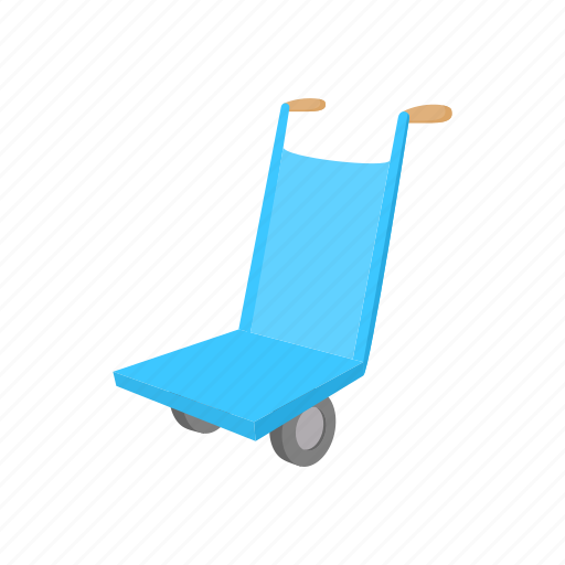 cargo, cart, cartoon, dolly, freight, package, wheel icon