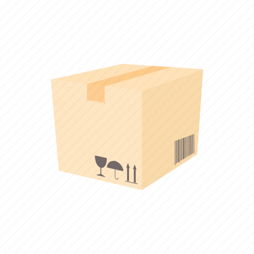 box, cargo, cartoon, package, packaging, shipping, transport icon
