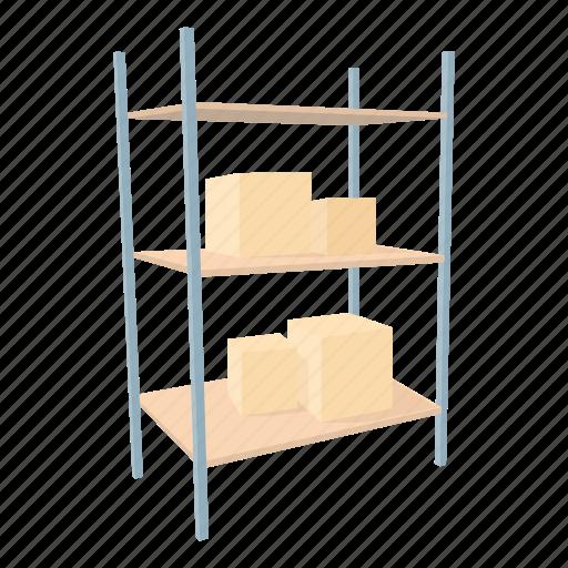 box, cargo, carton, good, shelf, storage, warehouse icon