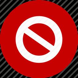 do not do, error, stop, violation, warning icon