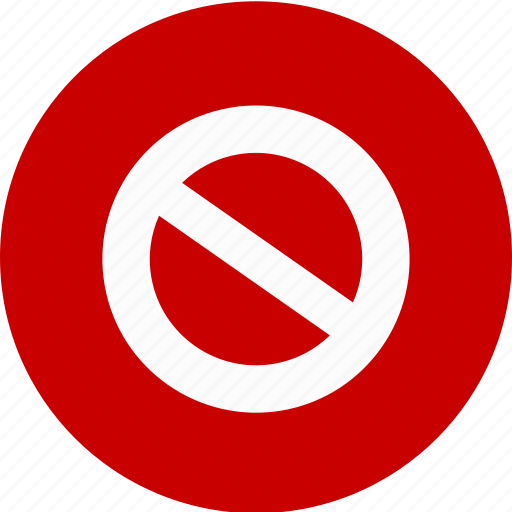 do not do, error, stop, violation, warning icon