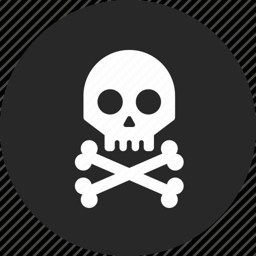 danger, dangerous, death, skelton, skull icon