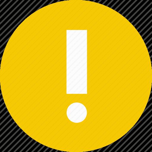 alert, caution, confirm, error, warning icon
