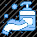 corona, hand, sanitizer icon