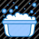basin, hand, soap, soapy, washing, water