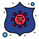 2, protection, safeguard, shield, virus icon