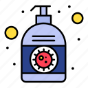 corona, cream, hand, lotion, sanitizer icon