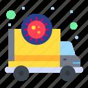 transmission, ambulance, corona, pandemic, virus icon