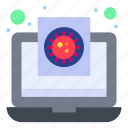 coronavirus, file, medical, report, virus icon