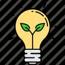 bulb, eco electricity, eco energy, eco planting, light energy, lightbulb, plant electricity icon