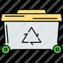 biological garbage, garbage basket, garbage can, recycling bucket, recycling trash, trash bin icon