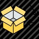 basket recycling, box recycling, cardboard recycling, material recycling, paper recycling icon
