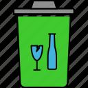 dustbin, garbage basket, garbage can, garbage removing, recycling, trash basket icon