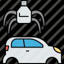 car recycling, machinery renewing, metal recycling, vehicle recycling, vehicle renewing icon