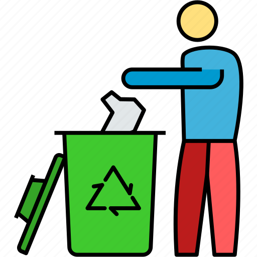garbage throwing, material wasting, recycling center, rubbish wasting, trash bin, trash recycling icon