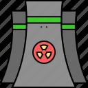 brick kiln, brick making, brickworks, radiations, radiative kiln icon