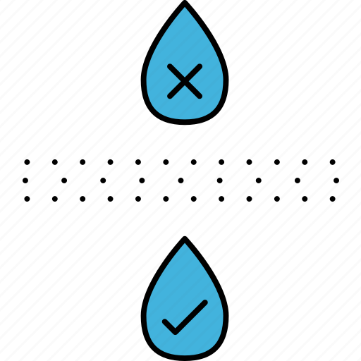 drinking water, germs removal, potable water, safe water, water filtering, water purify icon