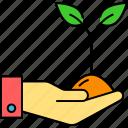 botany, ecology, environment, leaf growing, nature, planting, trees