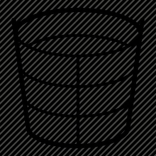 bucket, container, metal bucket, water, water bucket, water container, water drop icon