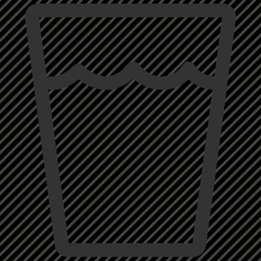 aqua, beverage, drink, glass, thirsty, water icon