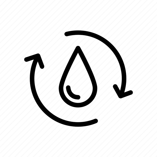 drop, ecology, ocean, recycle, recycle water, water icon