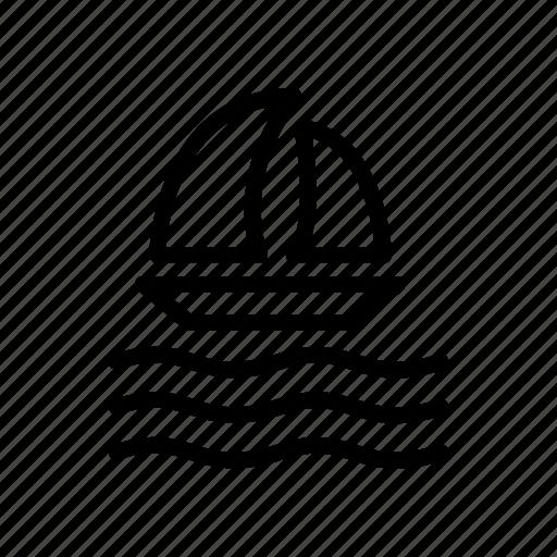 boat, ocean, sea, ship, water icon