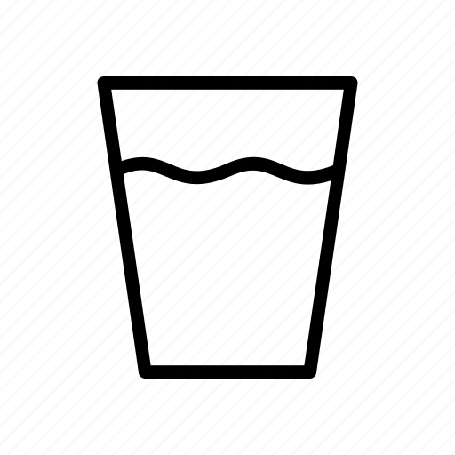 beverage, cup, drink, glass, hot, water icon