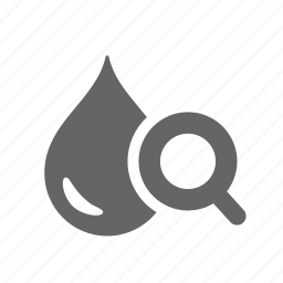 analyse, drinking, drop, liquid, magnifier, search, water icon