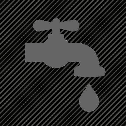 distribution, drop, liquid, plumbing, tap, water icon