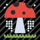 mushroom, park, water icon
