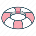 floating, life, park, prevent, rescue, ring, watar icon