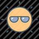 hot, light, sun, sunglasses, sunlight icon