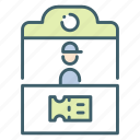 park, seller, shop, strall, ticket, tickets, trade icon
