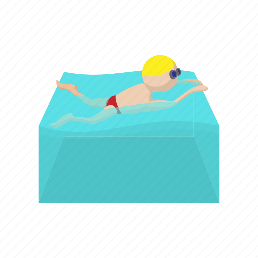 butterfly, cartoon, competition, pool, sport, swimmer, water icon