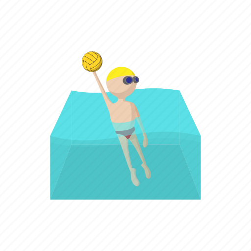 ball, cartoon, competition, polo, pool, sport, water icon