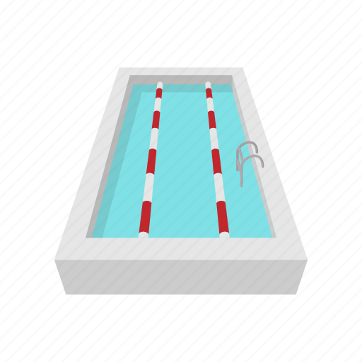cartoon, competition, empty, pool, sport, track, water icon