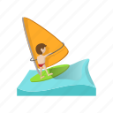 boat, cartoon, holiday, sea, sport, water, yacht
