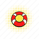 belt, comics, emergency, help, lifebuoy, protection, swim icon