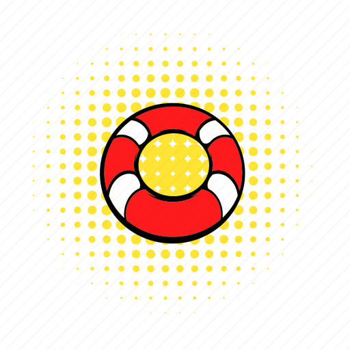 belt, comics, emergency, help, lifebuoy, protection, swim icon