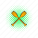 boat, canoe, comics, paddle, sea, sport, water icon