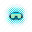 comics, mask, snorkel, sport, summer, underwater, water icon