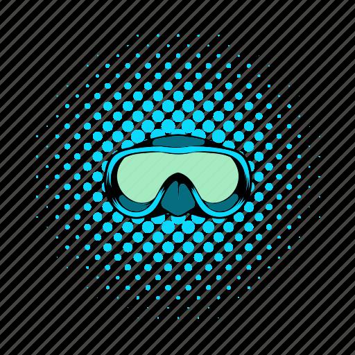 comics, mask, snorkel, sport, summer, underwater, water icon