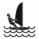 sail, sea, sport, water, wave, wind, windsurfing icon