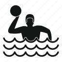 ball, competition, game, polo, pool, sport, water icon