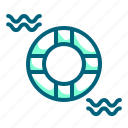 float, life, saver, tire icon