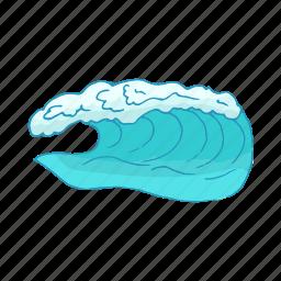 aqua, cartoon, drop, sea, wash, water, wave icon