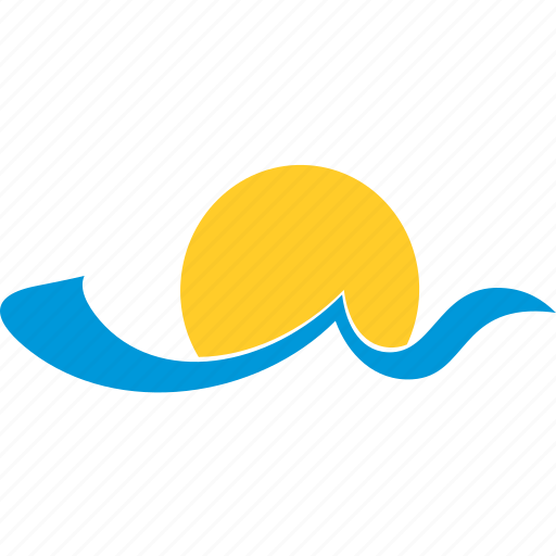 and, sea, summer, sun, tourism, water, wave icon