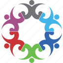celebrating, communication, group, people, teamwork icon